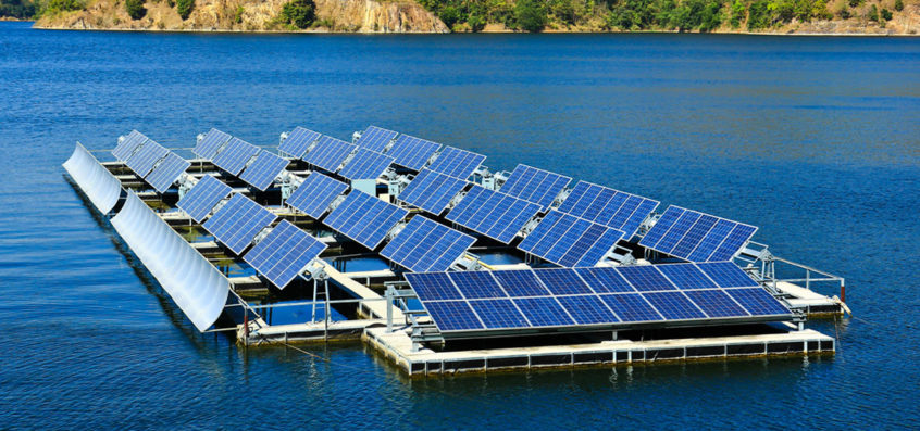 A Solar Power Plant on a lake as example for leading edge technology