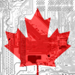 Canadian Flag and circuit board