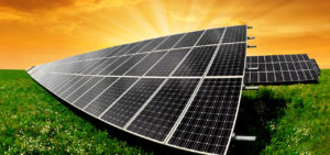 Photovoltaic System on grassland