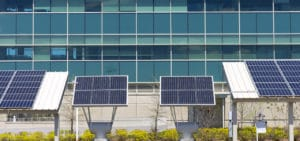 Solar Power in front of an office