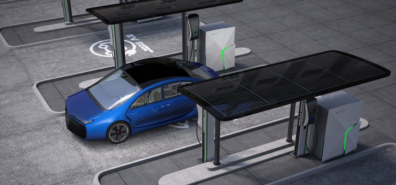 Outdoor standalone solar charging stations for retail and for Exterior standalone retail