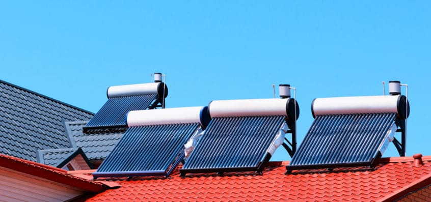 On the roof: a Solar Water Heater Installation